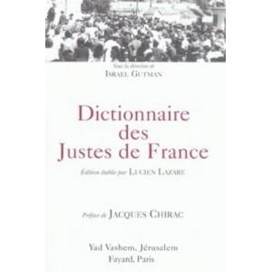 DICTIONNAIRE DES JUSTES DE FRANCE