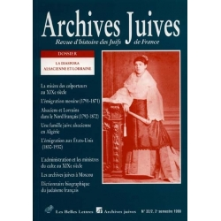 ARCHIVES JUIVES 32/2 1999