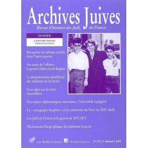 ARCHIVES JUIVES 37/2 L'AFFAIRE FINALY