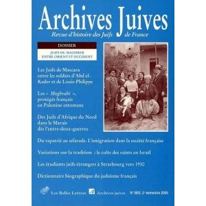 ARCHIVES JUIVES 38/2 JUIFS DU MAGHREB