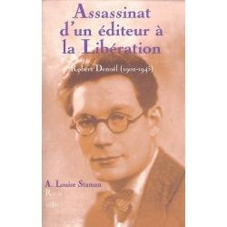 ASSASSINAT D'UN EDITEUR A LA LIBERATION : ROBERT DENOEL