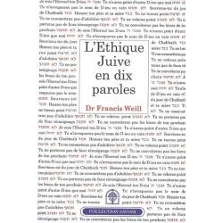 L'ETHIQUE JUIVE EN DIX PAROLES