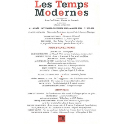 LES TEMPS MODERNES No 635-636 / JAN. 2006