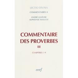 COMMENTAIRES DES PROVERBES  VOL.3