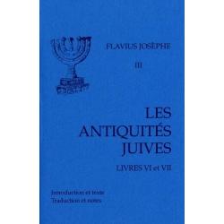 ANTIQUITES JUIVES LIVRES VI - VII