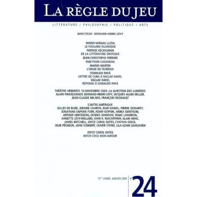 LA REGLE DU JEU No24 - L'AUTRE AMERIQUE