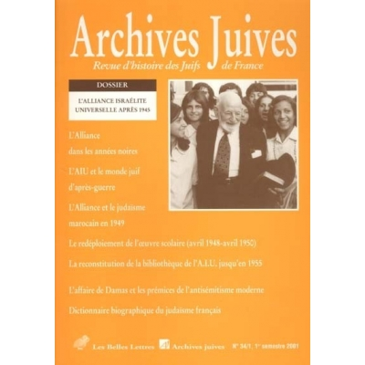 ARCHIVES JUIVES 34/1 - 2001