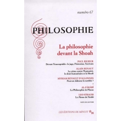 LA PHILOSOPHIE DEVANT LA SHOAH