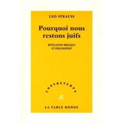 POURQUOI NOUS RESTONS JUIFS