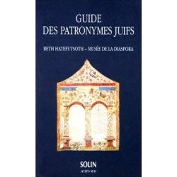 GUIDE DES PATRONYMES JUIFS