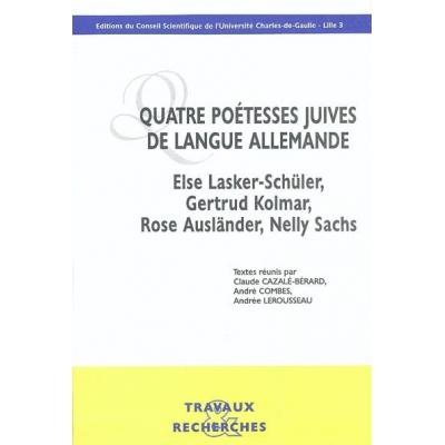 QUATRE POETESSES JUIVES DE LANGUE ALLEMANDE