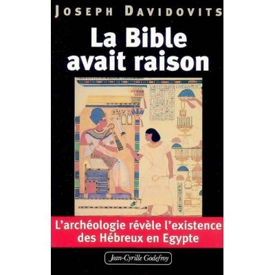 LA BIBLE AVAIT RAISON