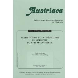 ANTIJUDAISME ET ANTISEMITISME EN AUTRICHE DU XVIIE AU XXE SIECLE