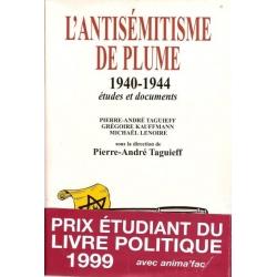 L'ANTISEMITISME DE PLUME 1940-1944