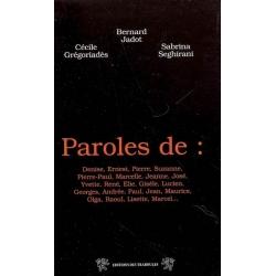 PAROLES DE...