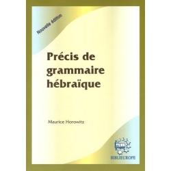 PRECIS DE GRAMMAIRE HEBRAIQUE