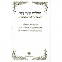 TEHILIM CHIRE DAVID BILINGUE BROCHE PM