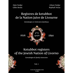 REGISTRE DES KETTUBOT DE LA NATION JUIVE DE LIVOURNE 2 VOL.
